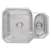 Astracast Rubus Undermount Kitchen Sink Stainless Steel 1½ Bowl & Reversible Drainer x 450mm