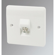 MK 1-Gang Satellite Socket White