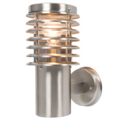 42W Brushed Stainless Steel Wall Light