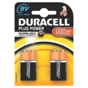 Duracell Alkaline 9V Batteries Pack of 2