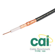 Labgear PF100 LSF Satellite Coaxial Cable 100m Black