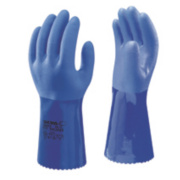 Showa Best 660 Chemical Hazard Gauntlets Blue Large