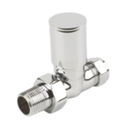 Verona Straight Radiator Valves 15mm Pair