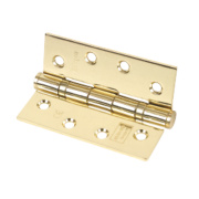 Eclipse Grade 11 Ball Bearing Hinges Polished Brass 102 x 76mm Pk3