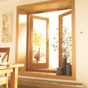 Jeld-Wen Rio 1 Lite French Door Set Oak 1790 x 2090mm