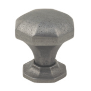 Fingertip Design Traditional Door Knob Octagonal Pewter Effect 32mm