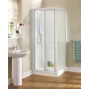 Swirl White Side Panel for Shower Enclosure 760 x 1850mm