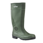 Site Trench Safety Wellington Boots Green Size 8
