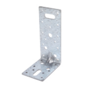 Unbranded Heavy Duty Angle Brackets Galvanised 63 x 63mm Pk10