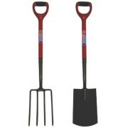 Spear and Jackson Carbon Steel Digging Fork & Spade