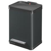 Hailo Trento Oko Duo Waste Separator Pedal Bin Black 22Ltr