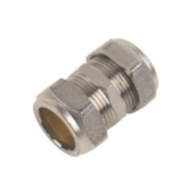Chrome Straight Coupling 22mm