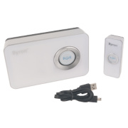 Wireless 100m MP3 Door Chime Kit White
