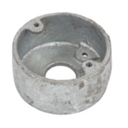 1-Hole 20mm Galvanised Loop In Conduit Box