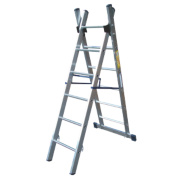 Lyte SF2CL6 Aluminium Alloy Combination Ladder 6 Rungs 2.99m