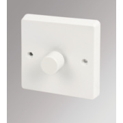 Crabtree 1-Gang 250W Moulded Dimmer Switch