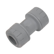 PolyPlumb 15mm Straight Coupler - Pack of 10