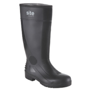 Site Trench Safety Wellington Boots Black Size 12