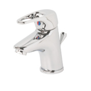 Swirl Loop Bathroom Basin Mini Mono Mixer Tap with Pop-Up Waste