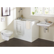 Petite Bathroom Suite with Acrylic Walk-In Bath for Elderly & Disabled LH