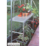 Halls Greenhouse 1-Tier Staging Aluminium Aluminium 19 x 42 x 28