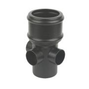 FloPlast SP581CI Cast Iron Effect Boss Pipe (Socket/Spigot) Black 110mm