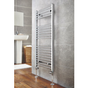 Kudox Flat Ladder Towel Radiator Chrome 1000 x 500mm 273W 932Btu
