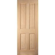Jeld-Wen Oregon Solid 4 Panel Interior Door Oak Veneer 2040 x 726mm
