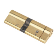 Yale Anti-Snap Euro Double Cylinder Lock 50-45 (95mm) Polished Brass