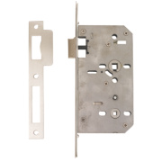 Eclipse Din Standard Bathroom Lock Stainless Steel 2¾