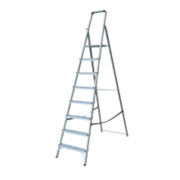 Lyte Platform Step Ladder Aluminium 8 Treads 2.33m
