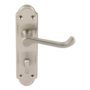 Jedo Sherborne Lever on Backplate Door Handle Satin Nickel