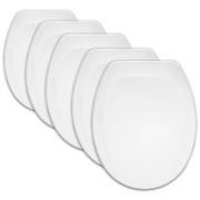 Carrara and Matta Jersey Contract Toilet Seats Pk5 Thermoplastic White