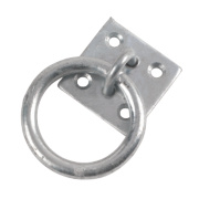 Hardware Solutions Ring on Plate Zinc-Plated Pack of 1