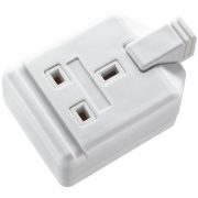 Masterplug Heavy Duty Rewireable 13A 1-Gang Single Pole Socket White