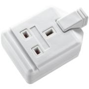 Masterplug Heavy Duty Rewireable 13A 1-Gang Single Pole Socket White