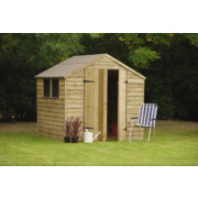 Forest Overlap Pressure Treated Shed 7 x 7 x 7' (Nominal)
