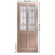 Jeld-Wen Thornbury Double-Glazed Ext. Door Unfinished Oak Veneer 838 x 1981mm