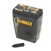 DeWalt 25mm Impact Screwdriver Bits PH #2 Pack of 25