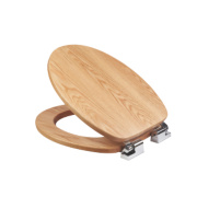 Croydex Sit-Tight Fitzroy Toilet Seat Solid Oak