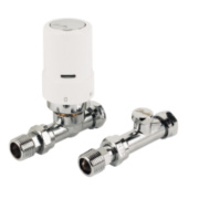 Danfoss RAS-D² White & Chrome TRV 8/10/15mm Straight & L/S