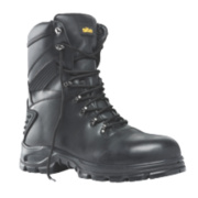 Site Flint Hi-Top Waterproof Safety Boots Black Size 7