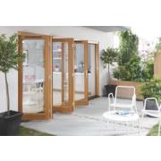 Jeld-Wen Canberra Slide & Fold Patio Door Set Golden Oak 2994 x 2094mm