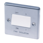 LAP 10AX 3-Pole Fan Isolator Switch Stainless Steel