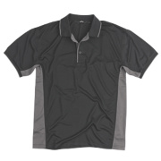 Site Moisture Wicking Polo Shirt Black Large 42-44