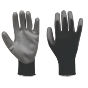 PU Palm Gloves Grey/Black Large