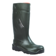 Dunlop Purofort+ C762933 Safety Wellington Boots Green Size 10