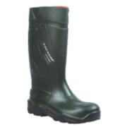 Dunlop Purofort+ C762933 Safety Wellington Boots Green Size 10