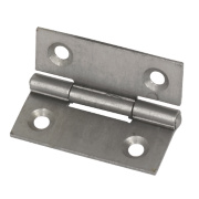 Steel Fixed Pin Hinges Self-Colour 40 x 33mm Pack of 2