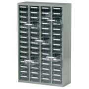 Steel Drawer Cabinet with 60 Bin Trays 586 x 222 x 937mm Grey